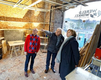 inkijkje in verbouwing Oude Toren van het Petrus Dondersplein