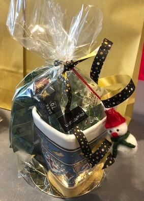 cadeauverpakking met chocolade