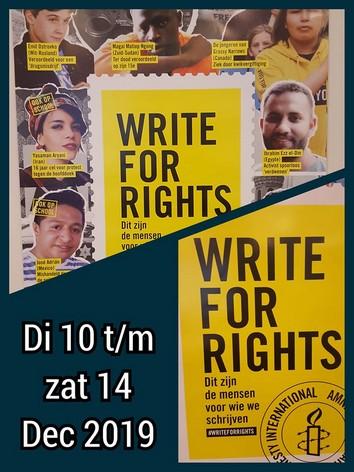 poster amnesty voor schrijfacties